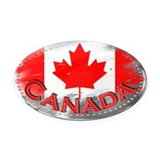 Canada Oval Car Magnet