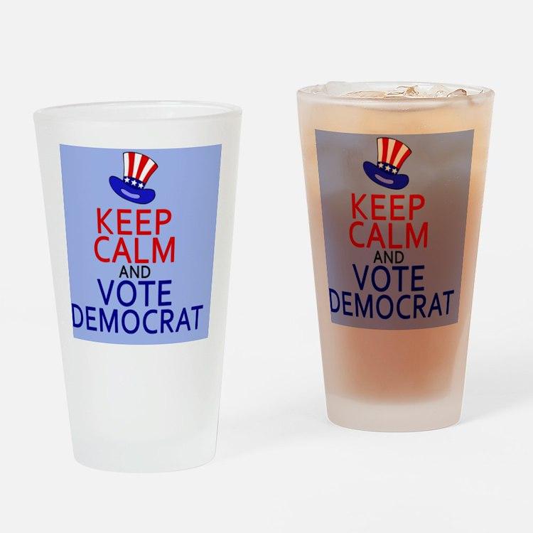 KCvotedembutton Drinking Glass
