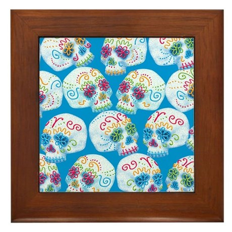 sugar-skulls_12-5x13-5h Framed Tile