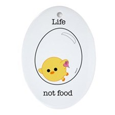 egg chick Oval Ornament