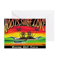 Roots Surf Love Greeting Card