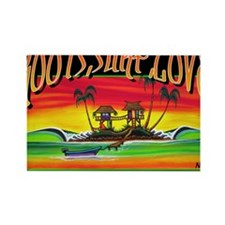 Roots Surf Love Rectangle Magnet
