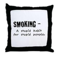 Unique Stop smoking Throw Pillow