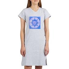 wind rose blue Women's Nightshirt
