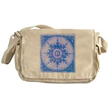 wind rose blue Messenger Bag