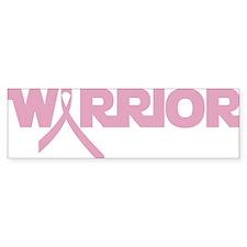 warrior pink ribbon_dark Bumper Sticker