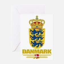 Denmark COA(Flag 10) Greeting Card