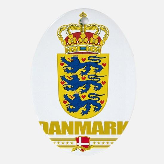 Denmark COA(Flag 10) Oval Ornament