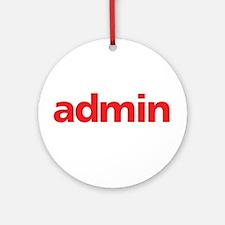 Admin Ornament (Round)