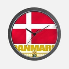 Denmark (Flag 10) Wall Clock
