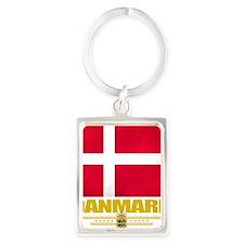 Denmark (Flag 10) Portrait Keychain