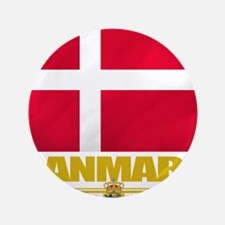 "Denmark (Flag 10) 3.5"" Button"