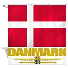 Denmark (Flag 10) Shower Curtain