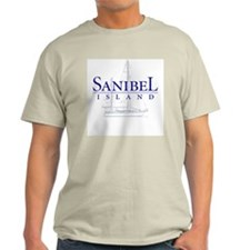 Sanibel Sailboat - Natural T-Shirt