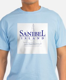 Sanibel Sailboat - Light Blue T-Shirt