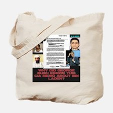 CIA-Memo-To-Bush-August-2001-Black Tote Bag
