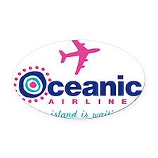 Oceanic Plain Oval Car Magnet