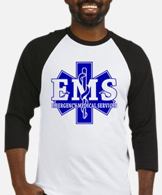 star of life - blue EMS word Baseball Jersey