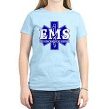 star of life - blue EMS word T-Shirt