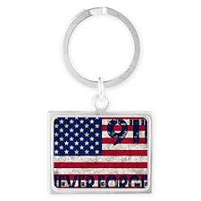 USA 911 Landscape Keychain