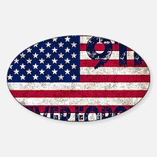 USA 911 Sticker (Oval)