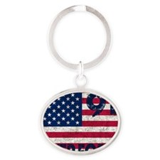 USA 911 Oval Keychain