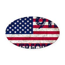 USA 911 Oval Car Magnet