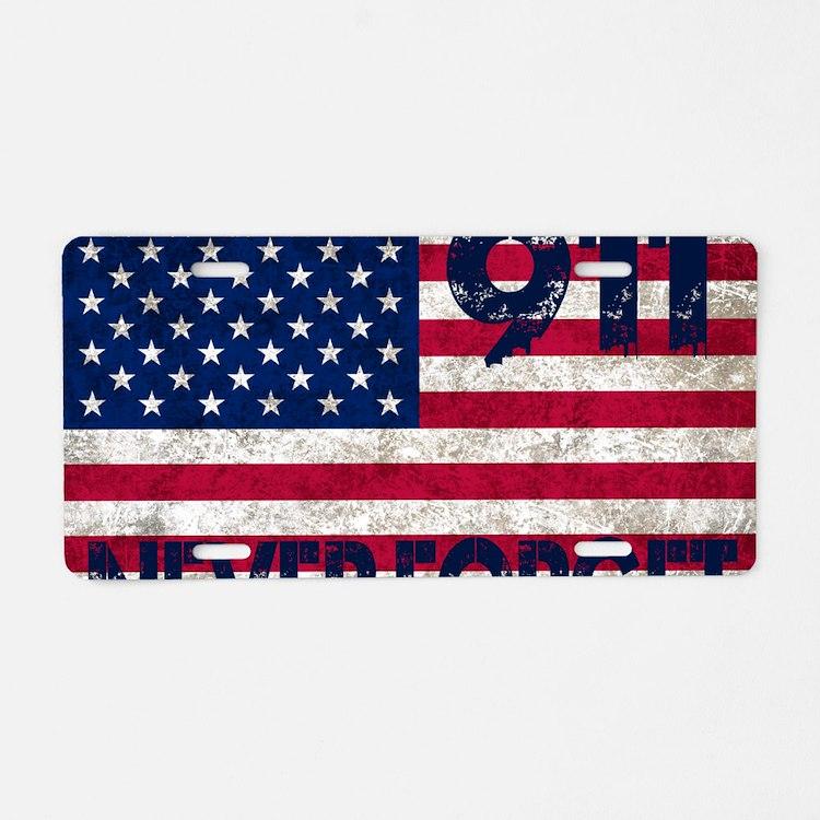USA 911 Aluminum License Plate