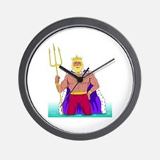 King Neptune Wall Clock