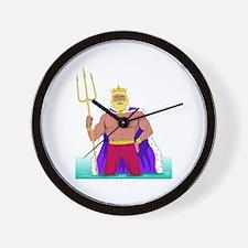 King Neptune Wall Clock