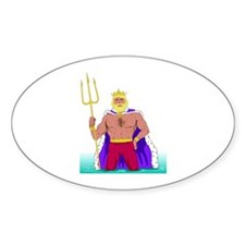 King Neptune Oval Decal