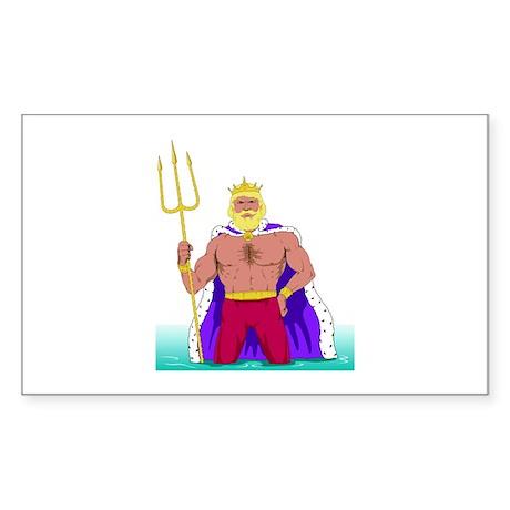 King Neptune Rectangle Sticker
