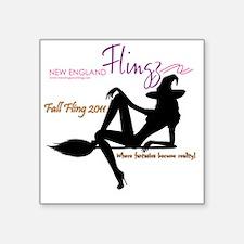"""Fall Flings logo 4.2 Square Sticker 3"""" x 3"""""""