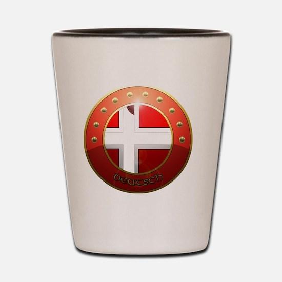 deutsch shield Shot Glass