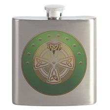 celtic cross shield two Flask