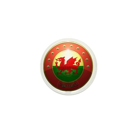 welsh shield. Mini Button