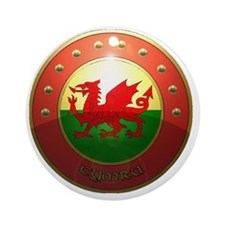 welsh shield. Round Ornament