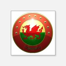 "welsh shield. Square Sticker 3"" x 3"""
