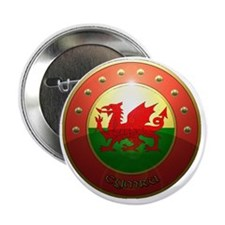 "welsh shield. 2.25"" Button"