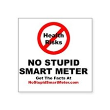"NoStupidSmartMeter-3DONE Square Sticker 3"" x 3"""