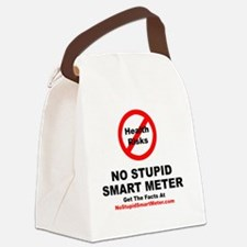 NoStupidSmartMeter-3DONE Canvas Lunch Bag