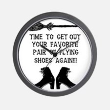 ZAZZLE RUBBERSTAMP FLYING SHOES Wall Clock