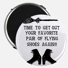ZAZZLE RUBBERSTAMP FLYING SHOES Magnet