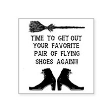 "ZAZZLE RUBBERSTAMP FLYING S Square Sticker 3"" x 3"""