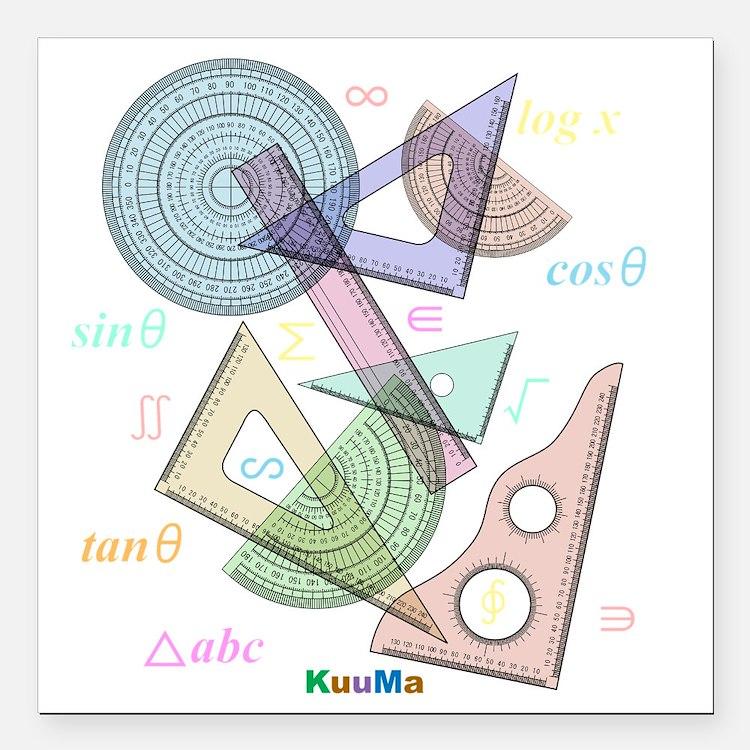 "geometry Square Car Magnet 3"" x 3"""