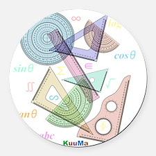 geometry Round Car Magnet