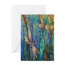 Colorful Dragonflies Greeting Card