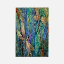 Colorful Dragonflies Rectangle Magnet