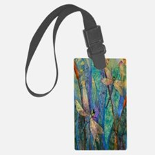 Colorful Dragonflies Luggage Tag