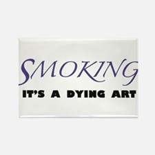 Cute Quiting smoking Rectangle Magnet